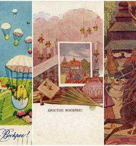 Десять розкішних Великодніх поштівок столітньої давності з приватної колекції