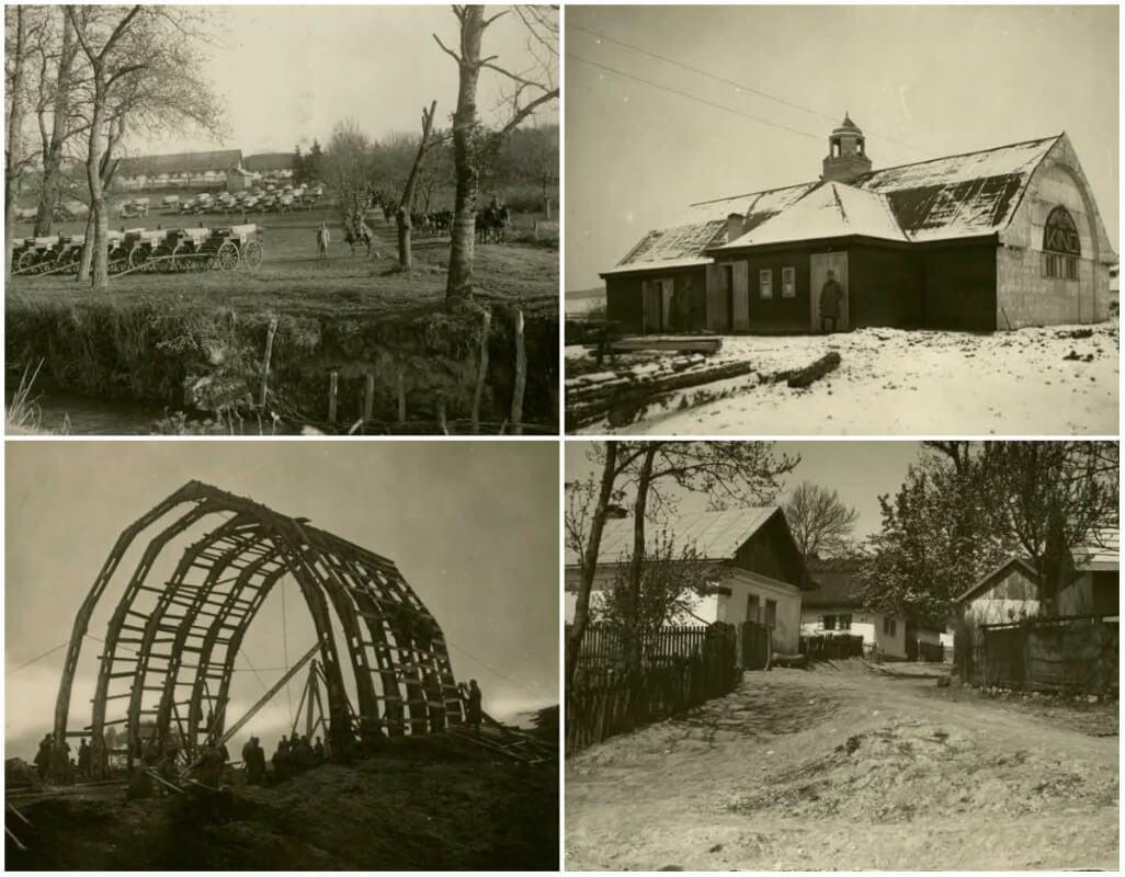 Селище Поморяни та околиці на столітніх фото