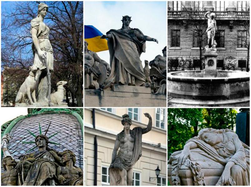 Жіночі скульптури у Львові
